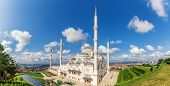 Camlica Mosque In Istanbul, The Biggest One In Turkey, Panoramic View poster