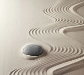 zen buddhism spiritual japanese rock garden abstract harmony and balance concept for purity concentr