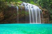 Prenn Waterfall. Beautiful Prenn Waterfall In Vietnam poster