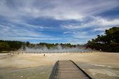 Champagne Pool In Wai-o-tapu An Active Geothermal Area, New Zealand poster