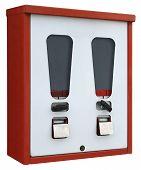 Red And White Vending Machine