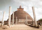 Jetavana Dagoba Is One Of The Central Landmarks In The Sacred World Heritage City Of Anuradhapura, poster