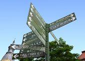 Hungarian Crossroad Sign