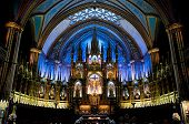 stock photo of damme  - Notre Damme De Montreal interrior with altar