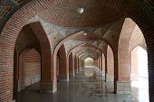 stock photo of tabriz  - Arches in the Blue Mosque in Tabriz - JPG