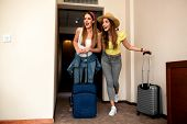 Best Friends Entering Their Hotel Room poster