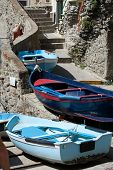 The Fishing Boats in Cinque Terre Italy