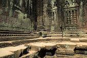 picture of asura  - This image shows An Angkor Temple in disrepair - JPG
