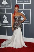 LOS ANGELES - FEB 10:  Bonnie McKee arrives at the 55th Annual Grammy Awards at the Staples Center o