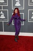 LOS ANGELES - FEB 10:  Kate Pierson arrives at the 55th Annual Grammy Awards at the Staples Center on February 10, 2013 in Los Angeles, CA