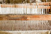 Old Weaving Loom In Spanish Mission