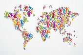 Diverstiy People Concept World Map
