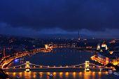 Falling night over Budapest, Hungary, Europe