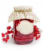 Jar with guelder rose jam.
