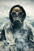 stock photo of gas mask  - Environmental disaster - JPG