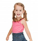 picture of beautiful litle girl in casual clothes
