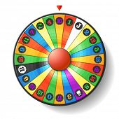 image of roulette table  - Fortune Wheel - JPG