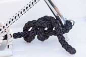 Black Boater Rope Knot