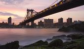 Manhattan Bridge From Brooklyn Near Sunset