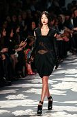 NEW YORK - FEBRUARY 12: Model walks the runway for the Vera Wang collections Mercedes-Benz Fashion W