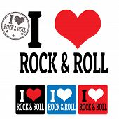 I Love Rock And Roll Sign And Labels