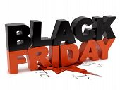 stock photo of fracture  - render of Black Friday crushing ground - JPG