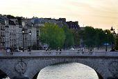 Sunset Over The Seine In Paris