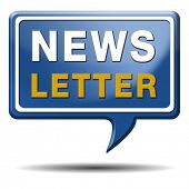 stock photo of newsletter  - Newsletter with latest hot and breaking news - JPG