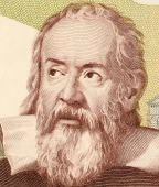 stock photo of physicist  - Galileo on 2000 Lire 1983 banknote from Italy - JPG