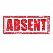 Absent-stamp