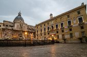 stock photo of piazza  - Piazza Pretoria in Palermo - JPG