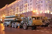 MOSCOW - MAY 3: Russian anti-aircraft missile system large-range and medium-range - air defense miss