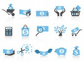 Simple Money Icon blue Series