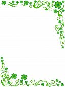 Four-leaved Clover Frame Background