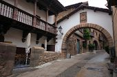 BARCELONA, SPAIN - MAY 11: Poble Espanyol in Barcelona, Spain on May 11, 2013.Traditional architectu
