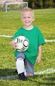 Cute little Soccer player portrait (boy)