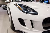 ANAHEIM, CA - OCTOBER 3: A Jaguar F-Type convertible on display at the Orange County International A