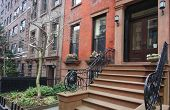 image of brownstone  - Historic Brooklyn town homes  - JPG