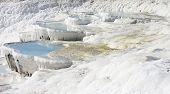 stock photo of natural phenomena  - The Pamukkale natural lakes in Hierapolis Turkey - JPG