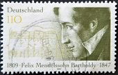 Germany- Circa 1997: Stamp Printed By Germany, Shows Felix Mendelssohn-bartholdy, Composer