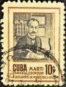 Cuba - Circa 1955: A Stamp Printed In Cuba Shows Jose Marti, Circa 1955