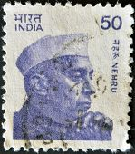 A stamp printed in India shows Jawaharlal Nehru Indias longest serving Prime Minister