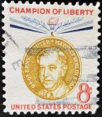United States - Circa 1959: Stamp Printed By United States, Shows Ernst Reuter, Circa 1959