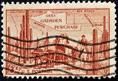United States Of America - Circa 1953: A Stamp Printed In The Usa Shows 1853 Gasden Purchase