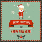 Christmas greeting banner with Santa