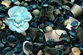 Background Of Blue Potpourri