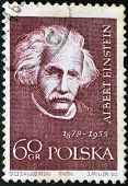 Poland - Circa 1959: A Stamp Printed In Poland Shows An Image Of Albert Einstein (1879-1955)