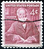 United States - Circa 1960: Stamp Printed In Usa, Shows Andrew Carnegie, Circa 1960