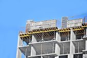 pic of formwork  - Concrete formwork with a folding mechanism on construction site - JPG