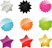 Постер, плакат: Векторные значки и звезды для вашего дизайна